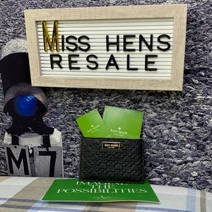 NEW KATE SPADE GRAHAM PENN PLACE BLACK CARD CASE